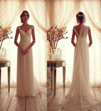 White/Ivory Bridal Gown A-Line chiffon sweetheart neckline Wedding Dress Custom