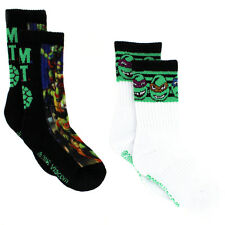 TMNT Teenage Mutant Ninja Turtles Boys 2 pack Crew Sport Socks TMNT2163