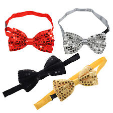 Sequin Bow Tie Dickie Bow Fancy Dress Dance Wear Party Emo SK