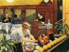 """""""Tables for Ladies-Edward Hopper"""" Canvas or Print Wall Art"""