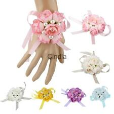 Fashion Hot Hand Wrist Flowers Corsage Bracelet Bridesmaid Sisters Bridal Prom