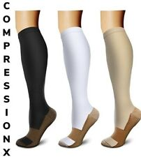 Copper Compression Support Socks 20-30mmHg Graduated Men's Women's 3 Pairs S-XXL