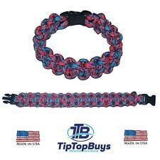 550 Paracord Survival Bracelet Cotton Candy2 Cobra Camping Military