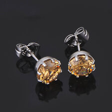 14K Gold filled Earings Rainbow Crystal CZ Womens Stud earrings korean jewelry