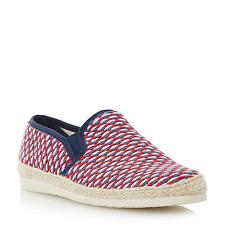Dune Mens FRESHMAN Woven Espadrille Shoe in Red