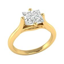 1.09 ct D/VVS1 Simulated Diamond Solitaire Wedding Engagement Ring Solid Gold