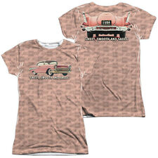 CHEVY PINK AND BLACK Licensed Sublimation Women's Junior Tee Shirt SM-2XL F/B