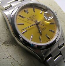 Rare Genuine Vintage Gents Rolex Oyster Perpetual Date Watch