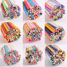 Pretty 50PCS Stylish Nail Art Fimo Cane Rods Lady Stickers Tips 3D Decoration