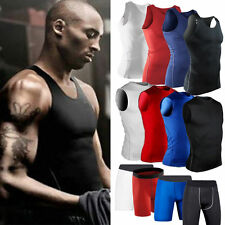 Mens Baselayer Compression Armour Tights Vest Top Shorts Thermal Gear Sportswear