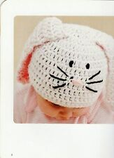 Easter Bunny Crochet Handmade Beanie Hat or Earflaps.All Sizes.Made to Order.