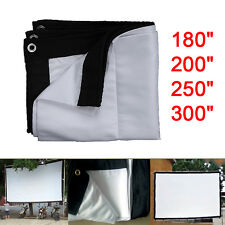 """180/200/250/300"""" 16:9/4:3 Foldable Projection Projector Screen HD Movie Cinema"""