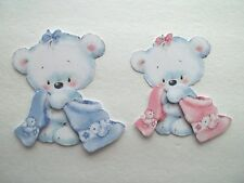 3D - U Pick - Bear Towel Bath  Scrapbook Card Embellishment 1983