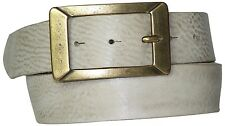 FRONHOFER Belt 4 cm, rectangular Brass Belt buckle, Genuine Leather, 17566