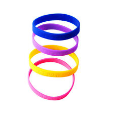 Custom Personalized Silicone Wristbands12mm ANY NAME ANY TEXT Bracelets Engraved