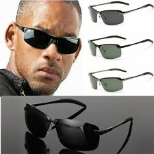 Mens Polarized Aviator Driving Goggles Outdoor Cycling Sunglasses Glass UV400 RF
