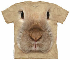Bunny Rabbit Face Adults Pet Design T-Shirt - USA S-XXL / AU Size 12-24! NEW