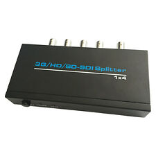 SD HD 3G SDI 1 x 4 Distribution Amplifier Repeater Splitter With Power Adapter