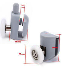 8PCS Single Shower Door Rollers/Runners/Pulleys Top or Bottom 23mm/25mm Wheel