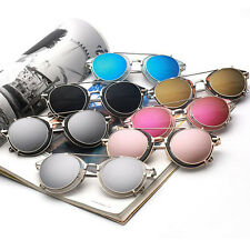 Fashion Lens Removable Vintage Style Eyewear Metal Frame UV400 Unisex Sunglasses