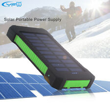 Dual USB 10000mAh Portable Solar Power Bank Waterproof Battery Charger External