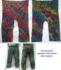 Tie Dye Cotton Thai Fisherman Wrap Yoga Pants Gypsy Boho Hippie Unisex