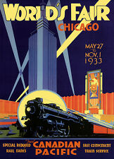 WORLDS FAIR CHICAGO art print on Paper or Canvas Giclee Poster