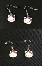 Genuine Sanrio Hello Kitty Purple or Red Earrings Ear Stud Girls Accessories New
