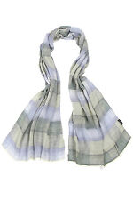 Mens Fraas Modal Lightweight Striped Check Scarf