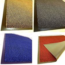 LARGE SMALL HEAVY DUTY BARRIER MAT KITCHEN NON SLIP RUBBER BACK DOOR HALL RUGS