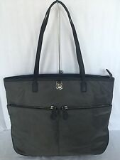Michael Kors Graphite Nylon Kempton Zip Pocket Tote NWT MSRP $138
