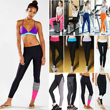 Womens YOGA Gym Sports Leggings High Waist Fitness Pants Stretch Workout Trouser