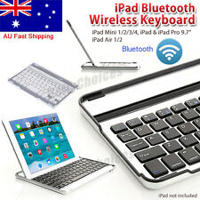 Slim Aluminum Bluetooth Wireless Keyboard Cover Case Stand For iPad mini 1 2 3