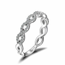 JewelryPalace Infinity Love 925 Sterling Silver Cubic Zirconia Wedding Band Ring
