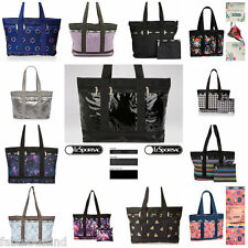 LeSportsac Medium Travel Tote Bag + Cosmetic Bag Assorted Patterns NWT Free Ship