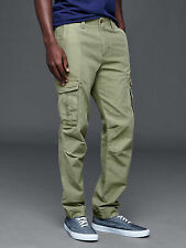 GAP Men's Cargo Slim Fit Pants in Olive Green Size 33x30 NWT