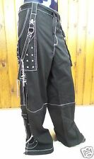 Tripp NYC Pants Shorts Black White 2XL 3XL Bondage Chains Gothic Rock AF7713M