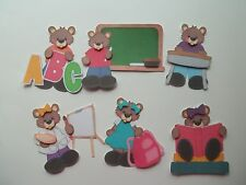 3D - U Pick - School Bears Backpack Painter Scrapbook Card Embellishment 14