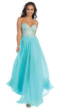 Elegant Formal Prom Dress Long Strapless Sweetheart Evening Gown
