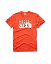 New Hollister By Abercrombie Mens Graphic T Shirt Size S Orange