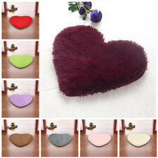 Fluffy Anti-Skid Shaggy Love Heart Soft Foam Bedroom Floor Mat Rug Pad Carpet