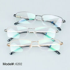 6202 Half rim glasses man's eyewear metal optical frames myopia RX eyeglasses