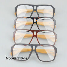 210 Bamboo temple spring hinged men acetate eyewear optical frame spectacles