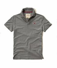 New Hollister By Abercrombie Mens Muscle Fit Short Sleeve Polo Shirt Gray