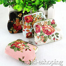 Womens Wallet Flower Small Coin Change Purse Hasp Clutch ID Card Mini Wallet Bag