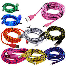 1M Braided Fabric Micro USB Data&Sync Charger Cable Cord YM
