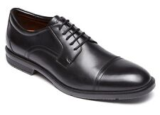 Rockport 'City Smart Cap Toe' Mens Black Leather Captoe Oxfords Shoes