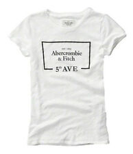 Nwt Abercrombie By Hollister Womens Graphic Slim Fit T Shirt Size L White