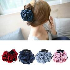 Fashion Fabric Rose Flower Large Hair Clamp Claw Clip Hair Jaw Accessories Gift