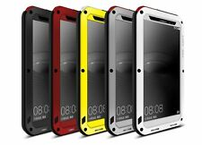 3D Shock Water Dust Resist Proof Gorilla Tempered Glass Metal Rugged Duty Case